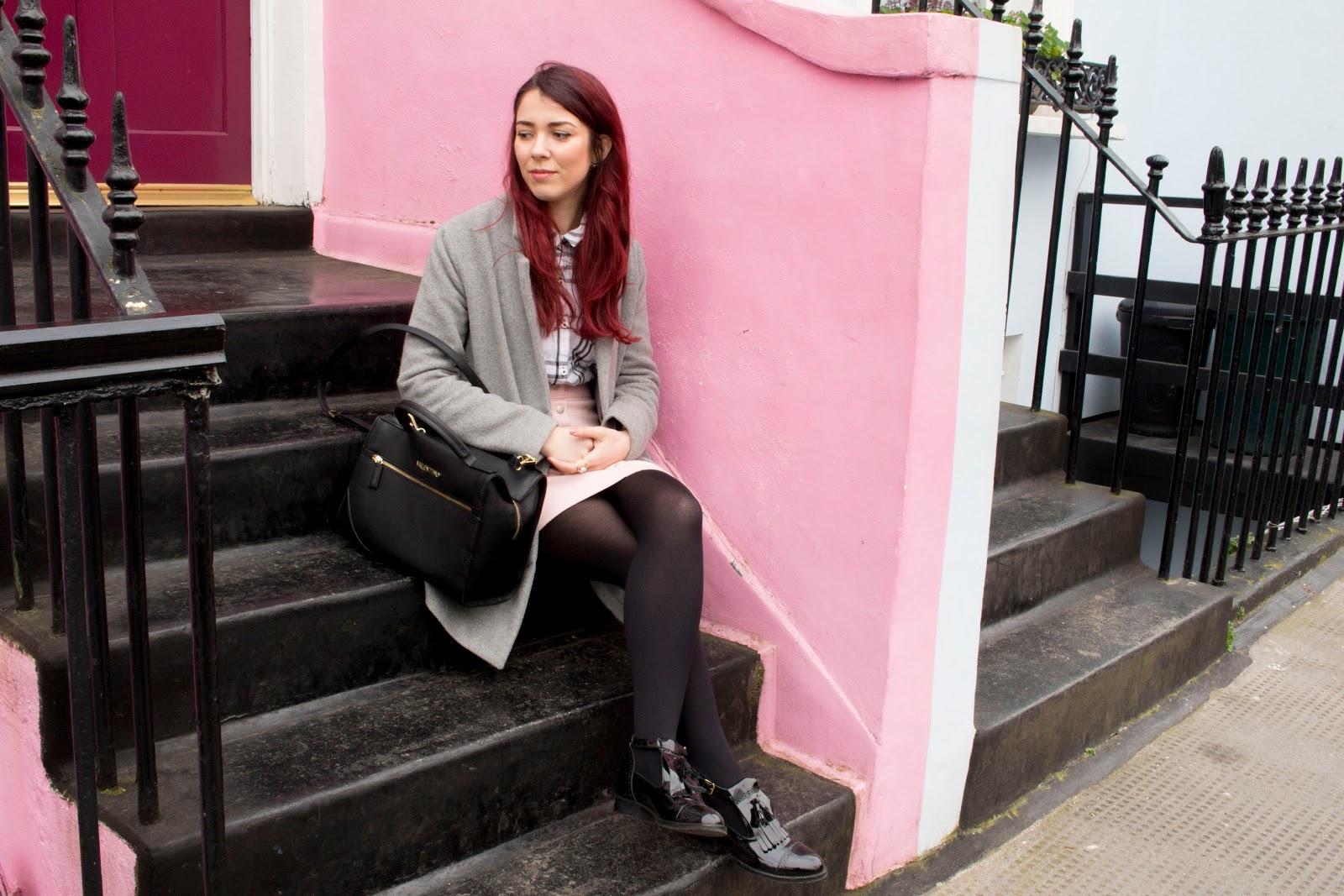 pastel outfits, portobello road, portobello market, rainbow house, pastel house, save the friday, Jonak Paris,