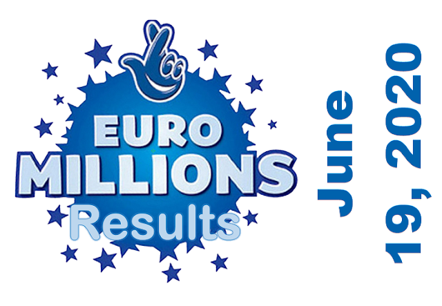 EuroMillions Results for Friday, June 19, 2020
