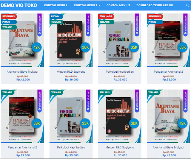 Template Toko Online Blogspot Premium Terbaik 2020