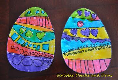 Shiny Easter egg painting for kids