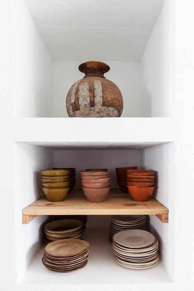 Vajillas de cerámica natural - Cucumbi hotel Portugal