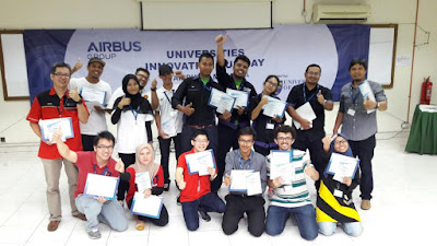 Finalists of the Universities Innovation Fun Day with Airbus Group in Malaysia.