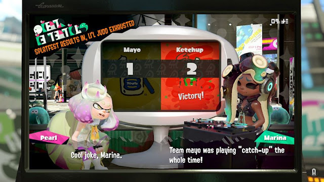 Splatoon 2 Splatfest Team Ketchup wins mayo playing catch-up whole time Marina