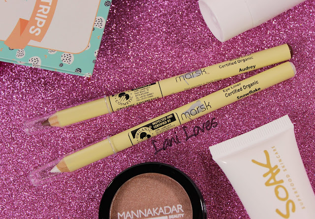 Marsk Brow Pencil - Audrey, Eye Liner - Snowflake Swatches & Review