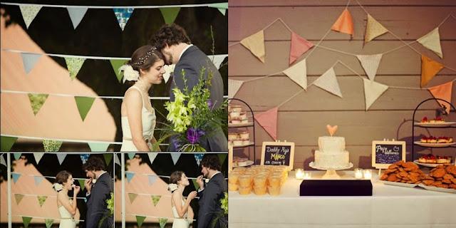 casamento vintage bandeirolas