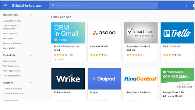gsuite marketplace add ons