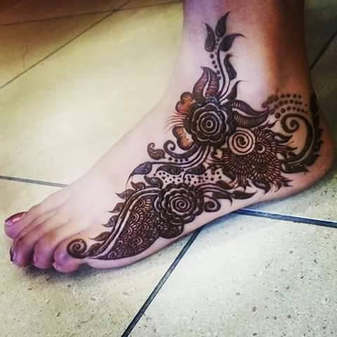 Foot Mehandi Design 1