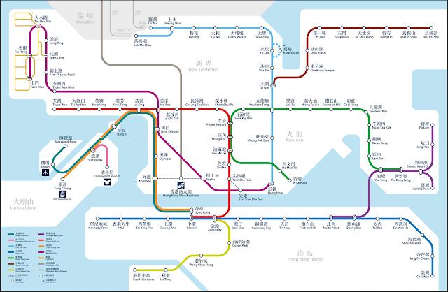 香港MTR路線図2018