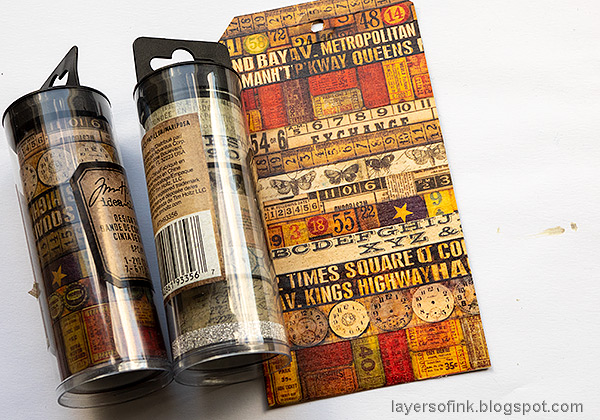 Layers of ink - Tape and House Tag Tutorial by Anna-Karin Evaldsson. Apply Tim Holtz Design Tape.
