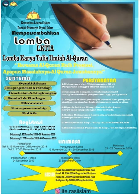 Lomba Karya Tulis Ilmiah Alqur'an Nasional