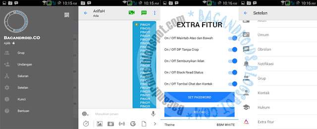 Download BBM Mod White iPhone style 3.0.0.18 apk terbaru