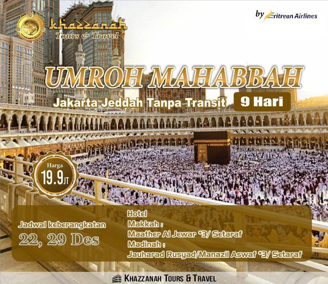 Khazzanah Tour Umroh Mahabbah Promo Desember