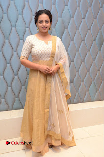 Actress Nithya Menen Pictures at 100 Days of Love Pre Release Press Meet  0210.JPG