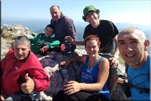 Aratz mendiaren gailurra 1.445 m. - 2018ko abuztuaren 12an