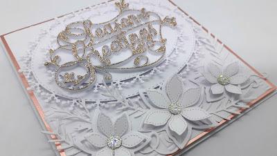 Elegant white Christmas cards