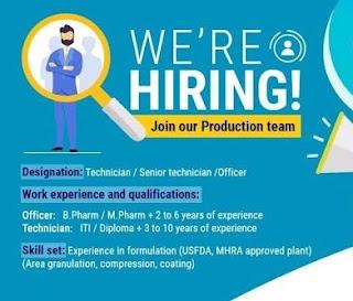 Rubicon Research Pvt. Ltd Pharmaceutical company Job Openings for B pharma, M pharm, ITI and Diploma Candidates