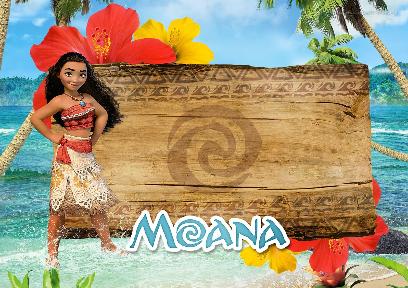 photograph relating to Moana Printable Invitations known as Moana: Totally free Printable Invites. - Oh My Fiesta! inside english