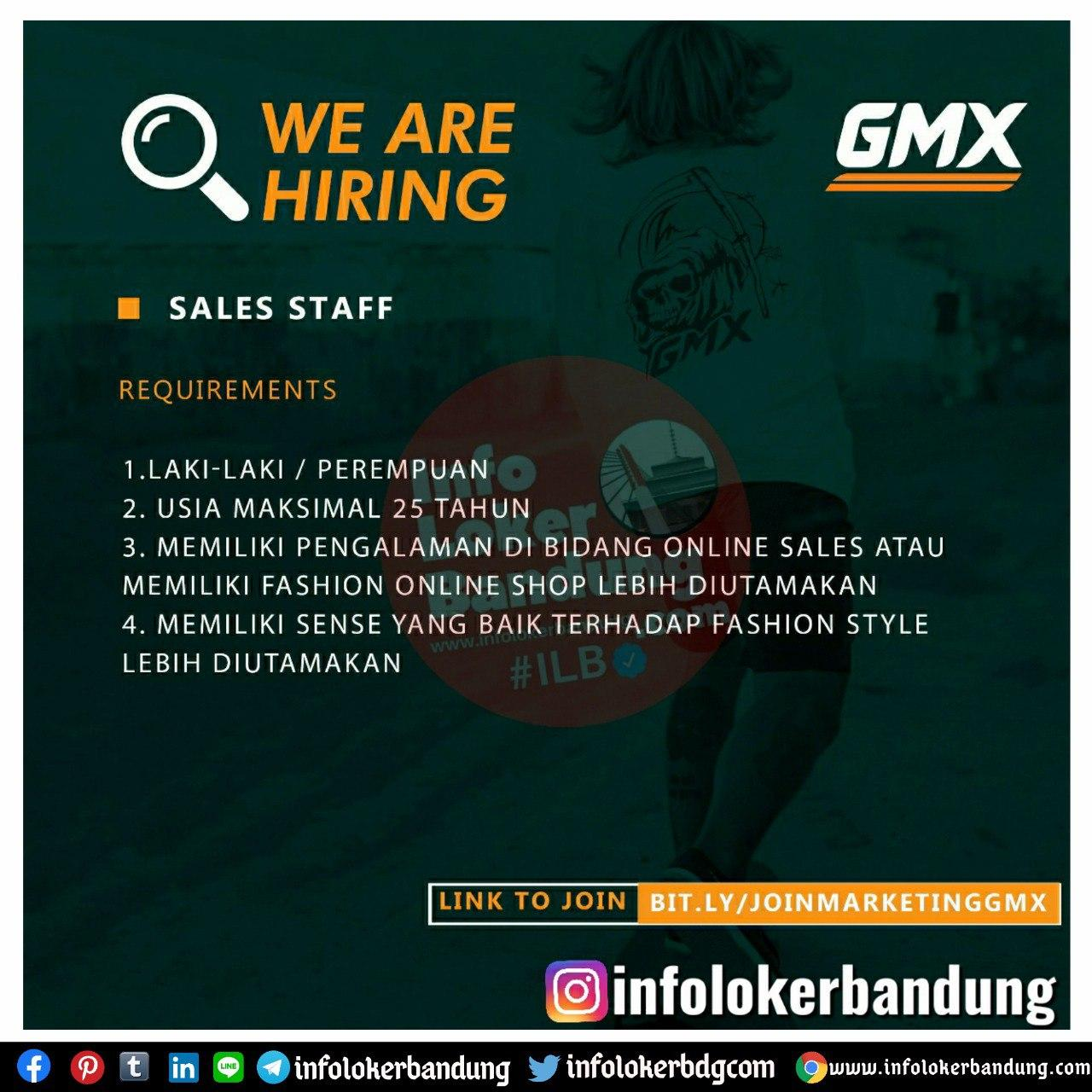 Lowongan Kerja Sales Satff & Sales Marketing Online GMX ...