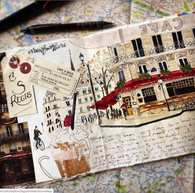 St Regis Paris art journal spread Galia Alena