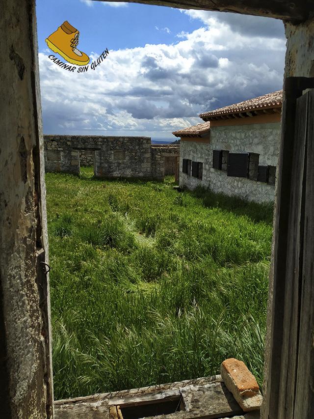 Patio del Penal Bustarviejo desde la puerta de las celdas