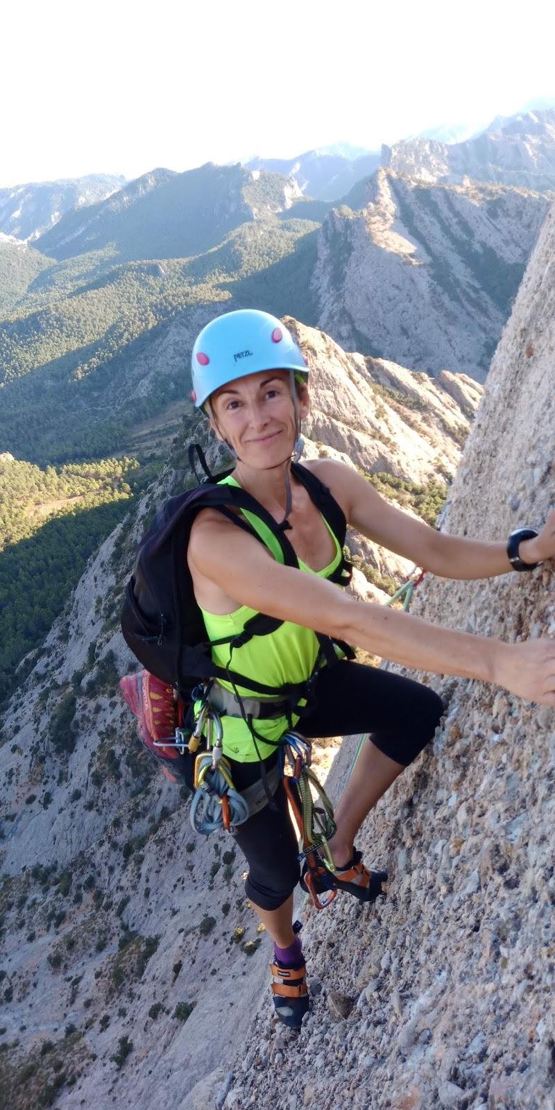 Ilda Vico, instructora de marxa nòrdica i excursionisme.