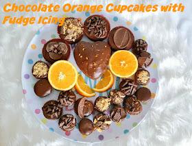 Chocolate Orange Cupcakes with Chocolate Orange Fudge Icing
