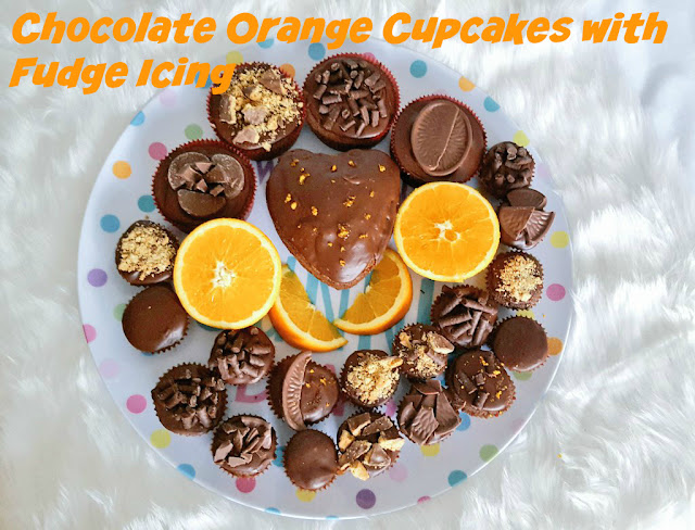 Chocolate Orange Cupcakes with Chocolate Orange Fudge Icing