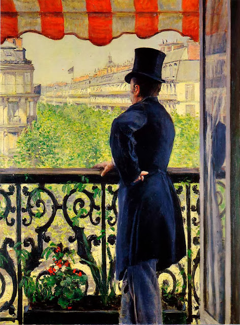 Homme au balcon, boulevard Haussmann (1880), par Gustave Caillebotte © Christie's images, The Bridgeman Art Library http://www.bridgemanart.com/