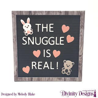 Divinity Designs Custom Dies: Baby Blessings Letter Board, Paper Collection: Weathered Wood