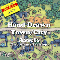 Free GM Resource: Town & City Assets from Two Minute Tabetop
