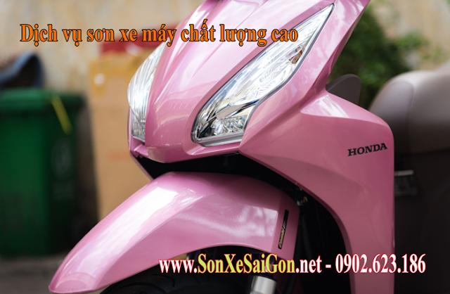 Mẫu sơn xe Honda Vision màu hồng