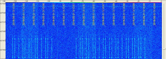 NUSAT-2 spectrum on SpectraVue