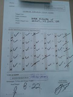 Ujian teori, Pembuatan SIM, SIM A, A B C, SIM perseorangan
