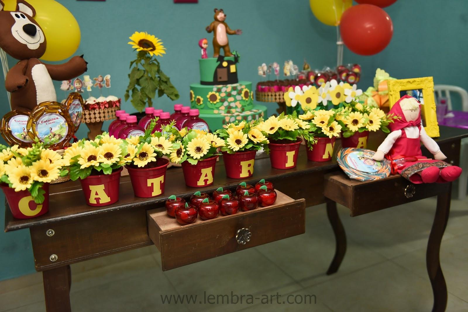 Lembra Art Produções Festa Masha E O Urso Ou Melhor Catarina E Os