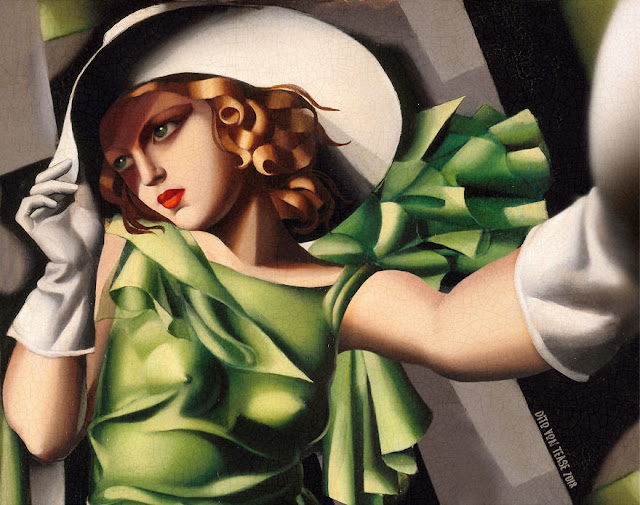 Young Lady With Gloves - Tamara De Lempicka, 1930