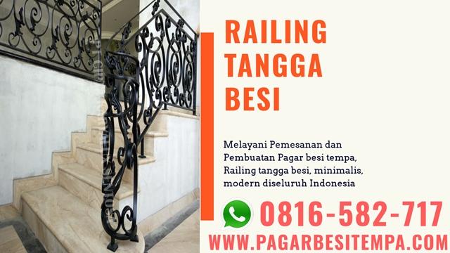 railing tangga besi tempa klasik minimalis