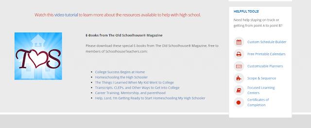 screenshot of 6 eBooks available to help homeschool teens