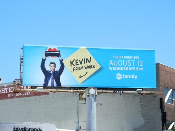 Kevin from Work TV billboard