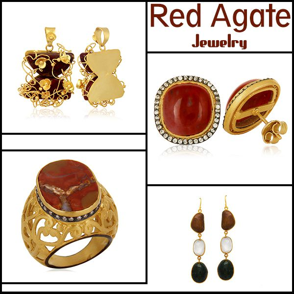 Red agate jewelry wholesale