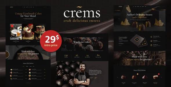 Best Elegant Chocolate Sweets & Pastry WordPress Theme