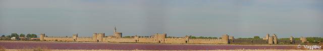 Panorama sulla cittadella di Aigues Mortes e sulle Saline