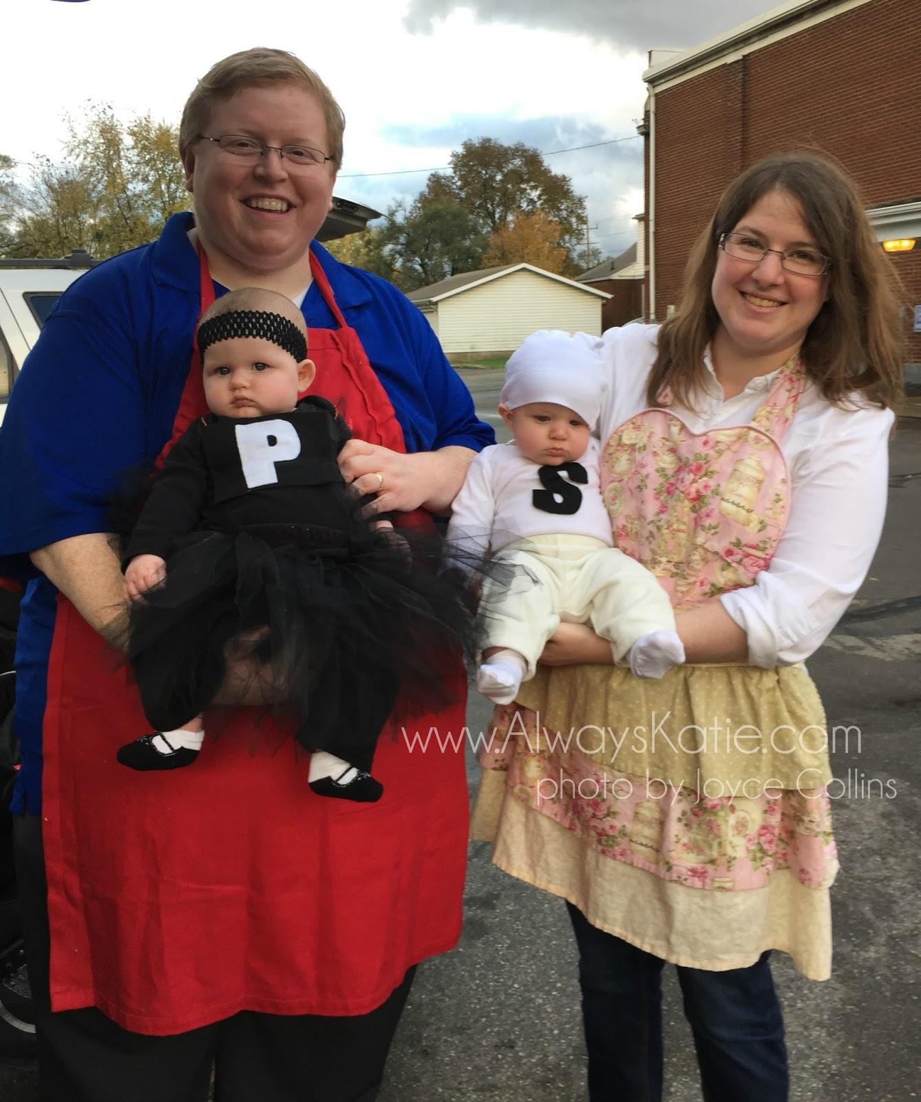 sc 1 st  Always Katie & Always Katie: Twin Halloween Costumes - Salt and Pepper Shakers