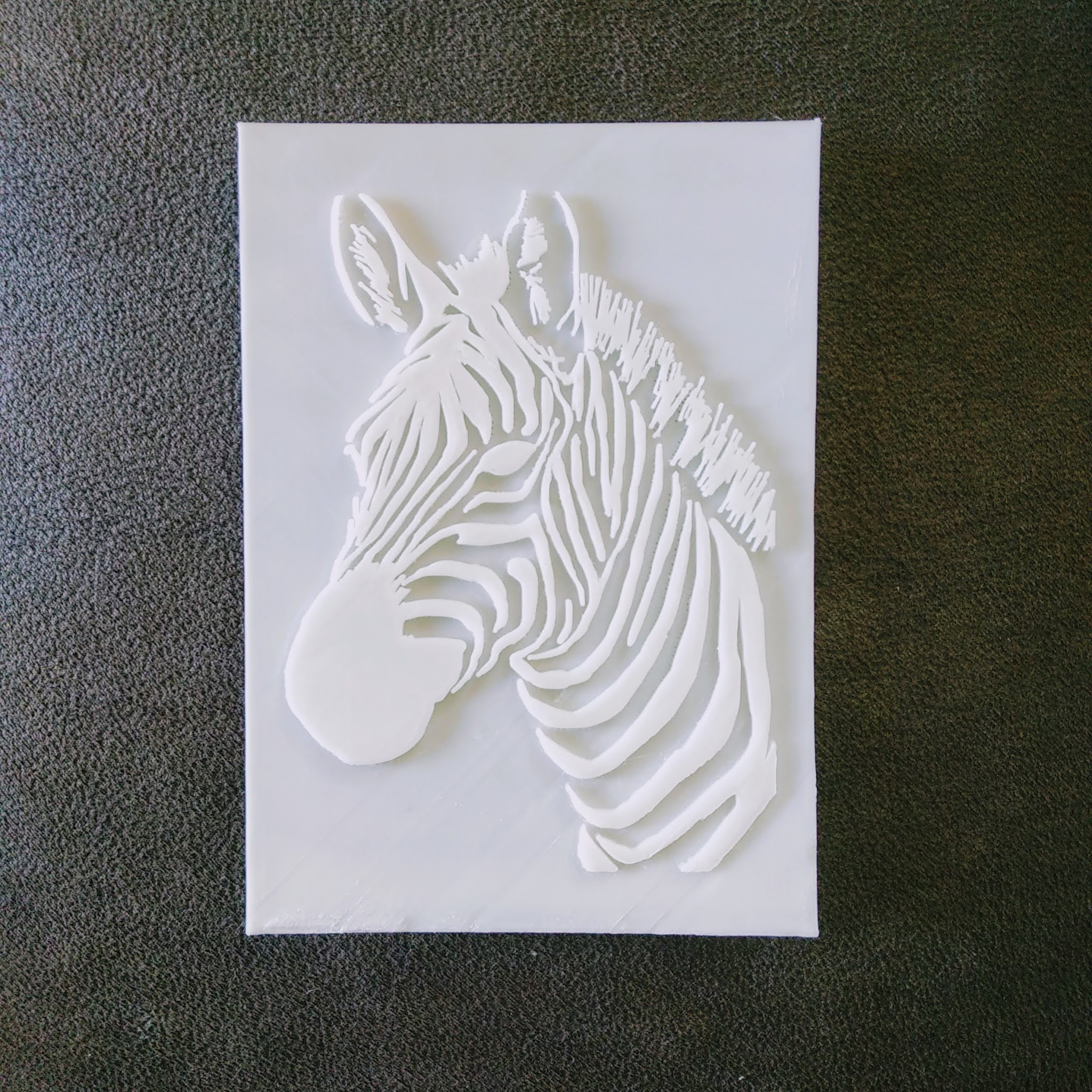 kabartma rolyef zebra