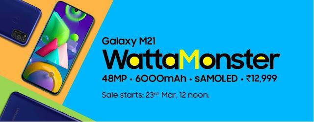 Samsung Galaxy M21  | 48MP + 6000mAh .