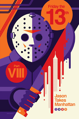New York Comic Con 2021 Exclusive Friday the 13th Part VIII: Jason Takes Manhattan Screen Print by Tom Whalen