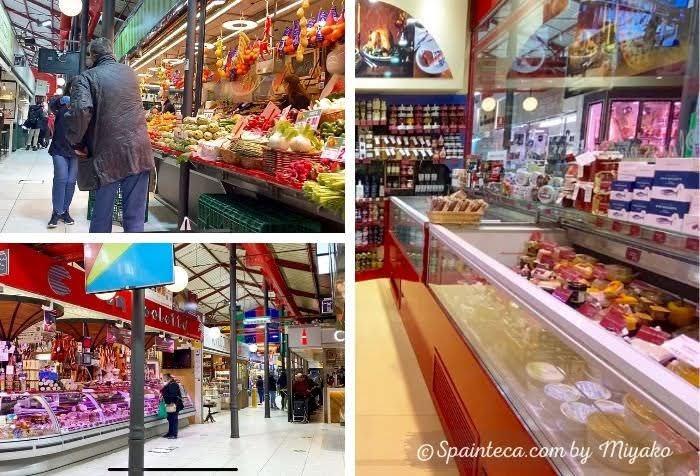 スペインのマドリードの市場内の様子