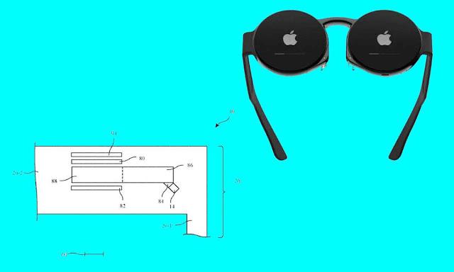 براءة اختراع لنظارة من شركة آبل Apple