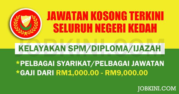 Pengambilan Jawatan Kosong Terkini di Seluruh Negeri Kedah