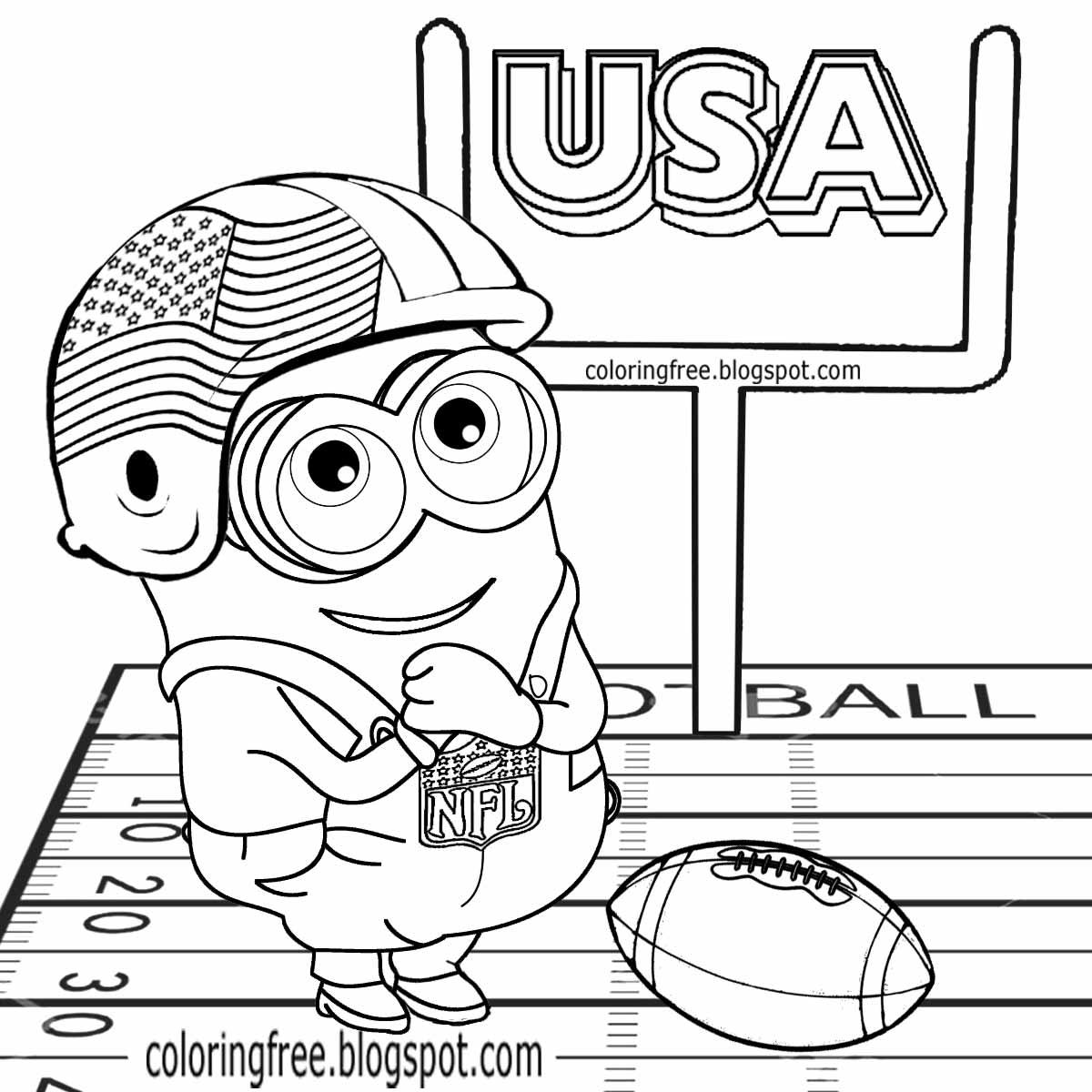American Football Cartoon Clipart