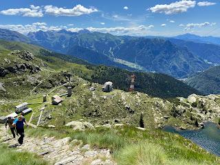The trail above Villaggio ENEL.